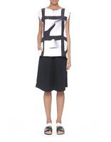 ZERO MARIA CORNEJO Black Foil Drape SHORTS Culottes Size 8 medium