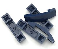 Lego 5 New Dark Blue Slope Curved 4 x 1 Double No Studs Sloped Pieces