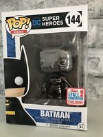 Funko Pop! Heroes Black Chrome Batman #144 NYCC 2017 Exclusive Vinyl Figure