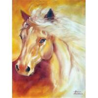 Marcia Baldwin 21057 GOLDEN SOLITUDE 6x8 Canvas Horse Wall Art in Gift Box