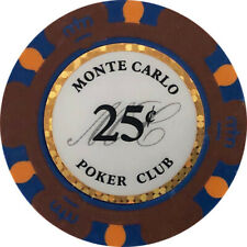 (25) $.25 MONTE CARLO CASINO POKER CHIPS
