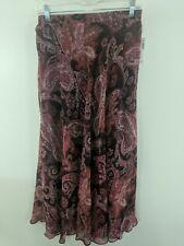 b93cebb7f6e F5 Dress Barn Womens Skirt Maxi Sheer Pink Paisley MSRP $36 Size Small  Sheer NWT