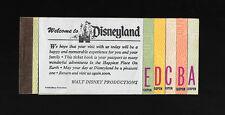 '71 Disneyland Ticket Book 10 Adventures A thru E Ticket