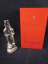 WATERFORD CRYSTAL Nativity Shepherd Boy with Horn 2 Stickers & Box