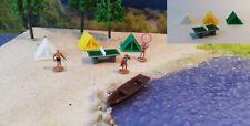 Campingplatz Spur N    3 Zelte mit Tischtennisplatte   Badestrand   Bausatz