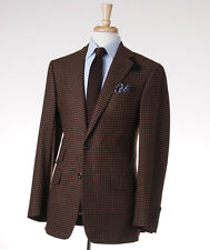 New $3695 OXXFORD HIGHEST QUALITY Brown Check Flannel Wool Sport Coat 38 R