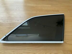Orig. Audi Q7 4M side window glass tinted with Chrome Rear Right 4M0845298 RNVB