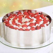 Moule Rond Réglable de Gâteau Inox Pâtisserie Cercle Mousse Cadre Cake Cuisine