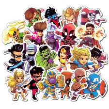 50 Waterproof Super Hero Stickers For MARVEL DC Graffiti Sticker For Skateboard
