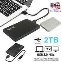 "Portable 2.5""HDD 2TB USB 3.0 External Hard Drive Disk Slim For Laptop Win10/8/7"