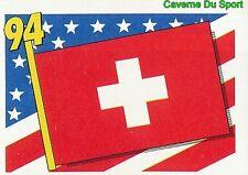 006 FLAG DRAPEAU SUISSE SWITZERLAND BLEU BACK VIGNETTE STICKER USA 94 BROCA