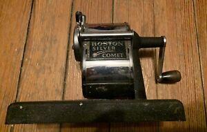 RARE VINTAGE BOSTON SILVER COMET PENCIL SHARPENER