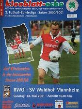 RW Oberhausen Programm 2000//01 Chemnitzer FC