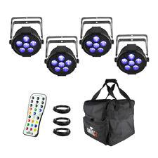 4x Chauvet DJ SlimPAR H6 USB Inc Remote and Carry Bag