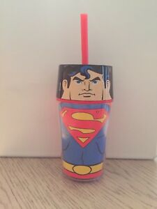 SUPERMAN ZAK COLLECTORS CUP WITH LID / STRAW TRAVEL MUG TUMBLER AVENGERS