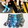 Tie-dyed Skeleton Socks Long Fashion Weed Socks Men's Skateboard Hiphop Socks