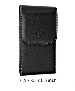 Vertical Leather Belt Clip Case Holster for Cell Phones fits w/ OTTERBOX ON IT