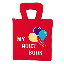 Pockets of Learning My Quiet Book Cloth Activity Learn to Tie, Zip & Button E410