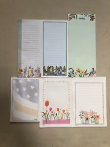 Lot Of 6 Note Pads  - 6 Pads Of Note Cards Stationery Scratch Writing Pad