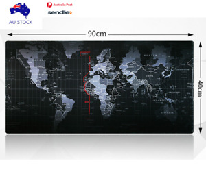 40x90cm World Map Mousepad Large Big Size Gaming Computer Mouse Pads