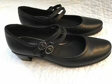 Ecco Mary Janes Pearl  8-8.5 US/ 39 EU Black - Excellent!!
