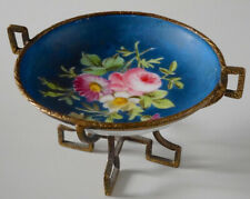 Antique French Miniature Hand Painted Tazza Old Paris