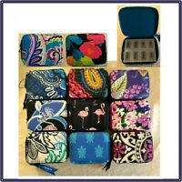 NWT Vera Bradley Travel Pill Case Box Zip Around Organizer Kit