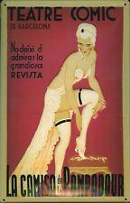 Escudo de chapa nostalgia escudo Teatre cómic Barcelona España 20x30 cm
