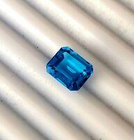 11x9 mm Emerald cut AAA+ Clarity Swiss Blue Topaz Natural loose Gemstone Octagon