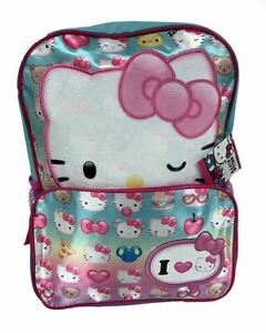Sanrio Hello Kitty Emoji 16 Inch Official Licensed Back Pack