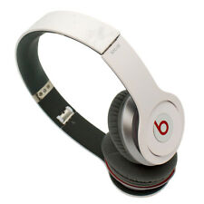 Genuine Beats By Dre Solo HD On-Ear Headphones Durable Compact Stained White
