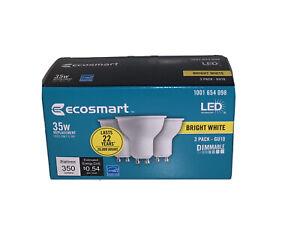 Ecosmart 35W Equivalent GU10 Dimmable LED Light Bulb 3-Pack Bright White 3000K