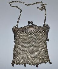 ANTIQUE SILVER CHAIN LINK PURSE GERMANY