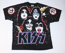 VTG Rare 1992 Hanes Winterland KISS Rock Band Japan Concert All Over Print Shirt