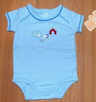 New NWT Baby Boy's Cute Newborn Carter's Blue Doggie Puppy One Piece Snapsuit