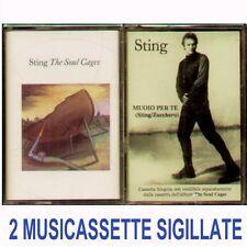 """STING """" THE SOUL CAGE + MUOIO PER TE """" 2 MUSICASSETTE SIGILLATE K7 (MC) ITALY"""