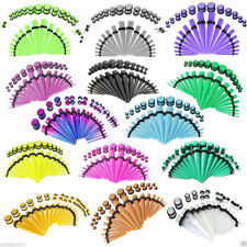 36pcs Acrylic Tapers & Plugs Ear Stretching Kit 1.6-10mm Body Piercing Jewelry