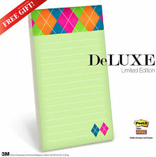 3M GROCERY SHOPPING To Do LIST PAD Post-It Super Sticky with Magnet on Back