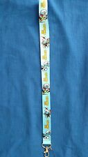 DISNEY THE SMURFS BLUE PAPA MOBILE PHONE LANYARD KEYCHAIN NECKLACE STRAP