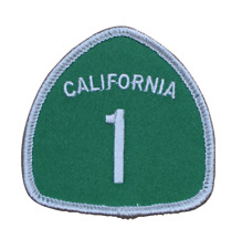 Highway 1 Patch - Hwy One, California (Iron on)