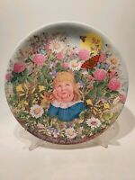 """Davenport Pottery """" All Things Bright & Beautiful"""" Plate 1986s Limited Edition"""