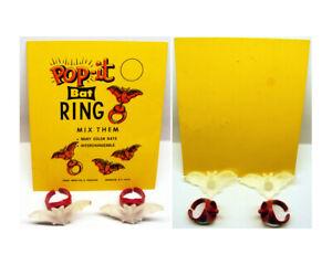 1960's Pop-it Bat Ring Pair With Original Gumball Header Card