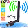 150Mbps 2.4Ghz Wireless USB WiFi Network Adapter w/Antenna 802.11_gu