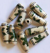 10 abalorios cerámica perú 22 mm cannabis cáñamo hoja reggea rasta joyas bricolaje