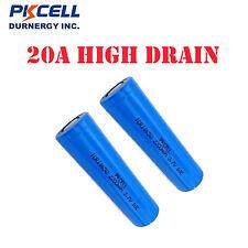2pcs 20A High Drain ICR 18650  Vape Mod Battery ( 2200mAH,10C,3.7v) PKCELL