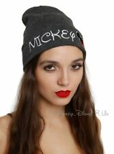 New Disney Mickey Mouse Watchman Beanie Knit Hat Ski Cap Embroidered Rare VHTF