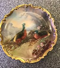 Dubois Bird Plate Charger Limoges 1890's