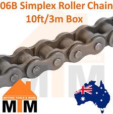 "INDUSTRIAL ROLLER CHAIN 06B-1 - 3/8"" PITCH SIMPLEX 10Ft 3m Box 06B"