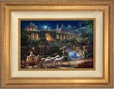 Thomas Kinkade Clock Strikes Midnight LE Canvas 12 x 18 S/N (Gold Frame) Disney