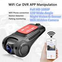 170° 1080P WiFi Hidden Mini Camera Car DVR Dash Cam Video Recorder Night Vision